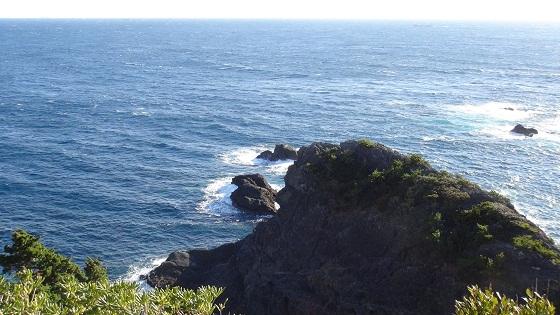 熊野神社から見える海の眺め