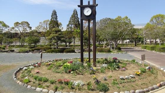 時計×花壇