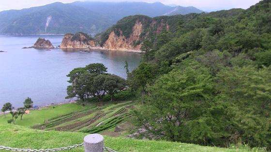 黄金崎コレクションガーデンから見える景色