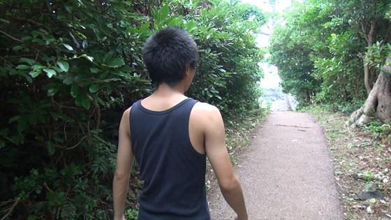 遊歩道の散歩
