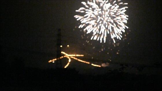 三島夏祭り2013の大文字焼き