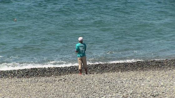 釣り人の姿