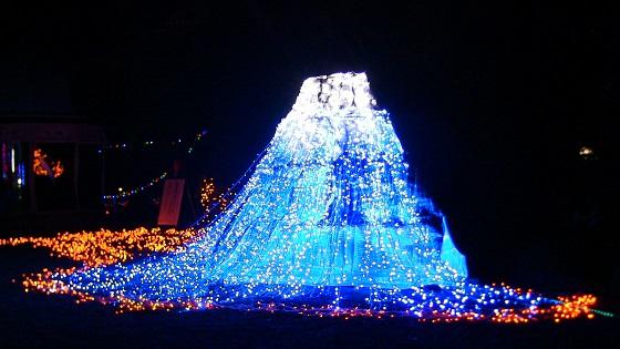 富士山のイルミネーションアート