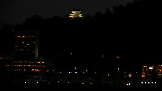 熱海城ライトアップ