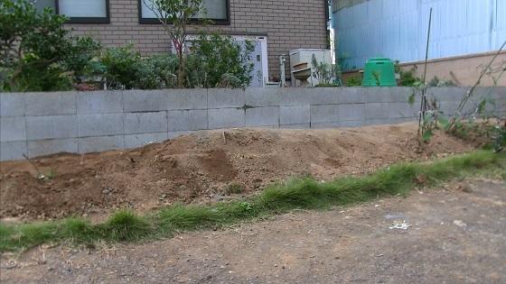 施工後の土留め(1)