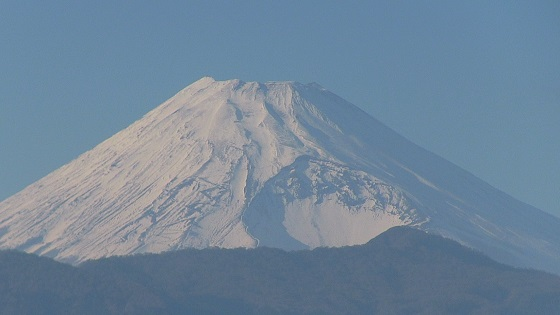 香貫山展望台から見える富士山