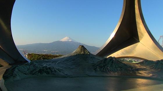 香貫山山頂から見える富士山(2)