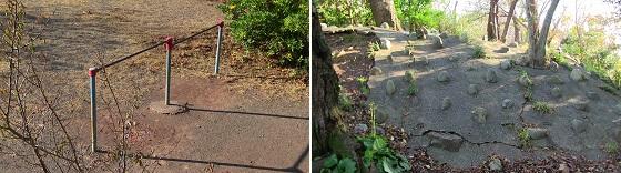 左:鉄棒・右:プチボルダリング