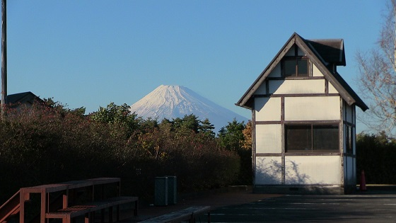 修善寺虹の郷から見える富士山