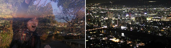 香貫山夕暮れ~夜景