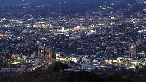 香貫山展望台から見える夜景(1)