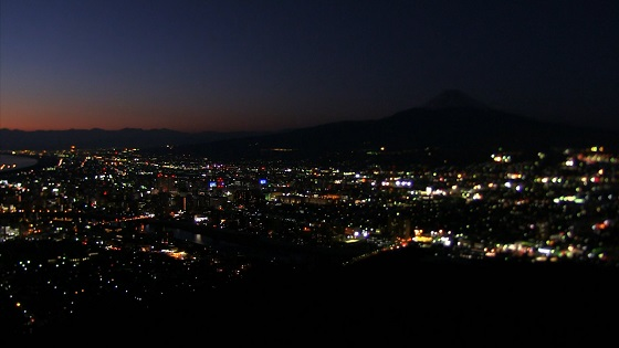 香貫山展望台から見える夜景(2)