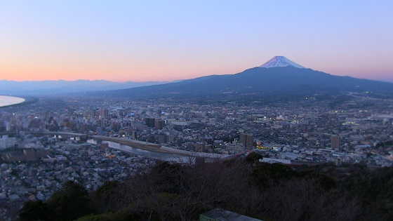 夕暮れ富士山(1)