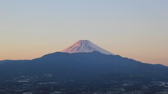 夕暮れ富士山(2)