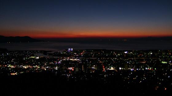 日没×街並み(港町)