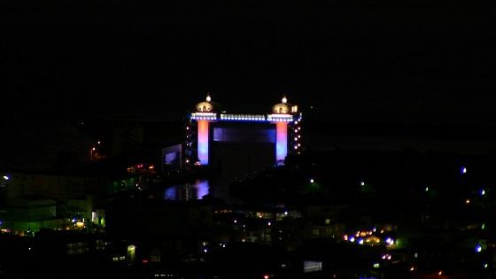沼津港大型展望水門びゅうおのライトアップ