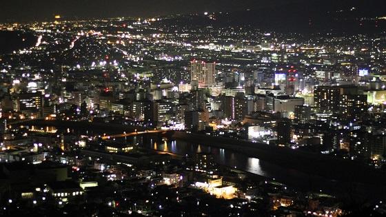 香貫山展望台から見える夜景(3)