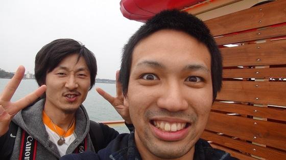 遊覧船記念写真