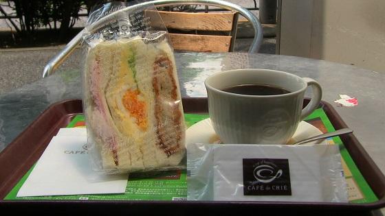 サンドイッチ&コーヒー