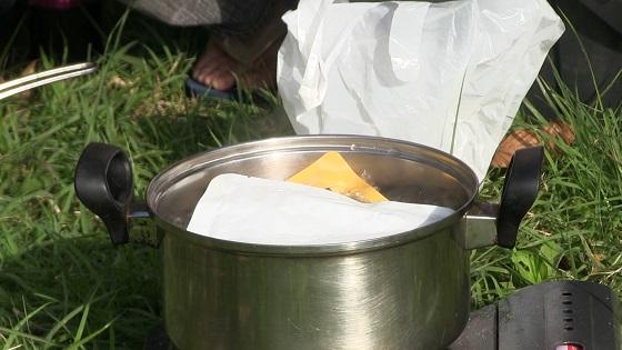 カレー袋の温め