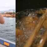 富士市「田子の浦港」でサビキ釣りをしてアジの唐揚げにして食してみた