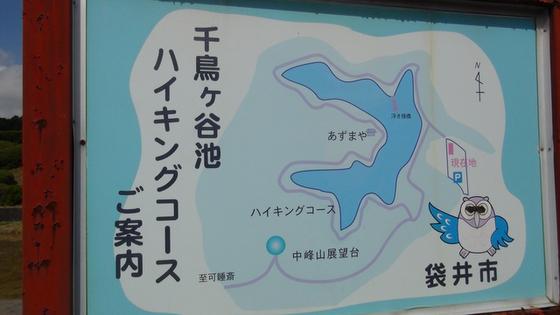 千鳥ヶ谷池ハイキングコース看板