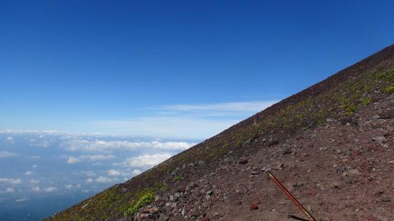 富士山斜面×雲