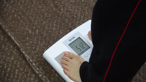 エクササイズ後の体重