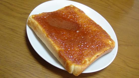 はちみつ味噌トースト完成